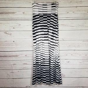 LOVE CULTURE black and white high waist maxi skirt
